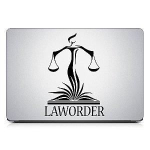 Adesivo de Notebook - Advocacia Símbolo Law Symbol Balança