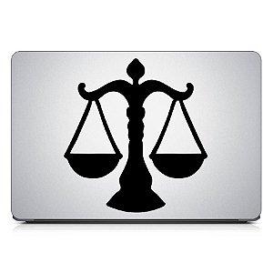 Adesivo de Notebook - Advocacia Law Symbol Lawyer Advogado