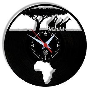 Relógio de Vinil - Africa Viagem Turismo