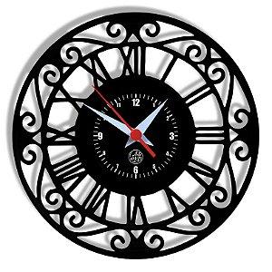 Relógio de Vinil - Relógio Clássico Vintage
