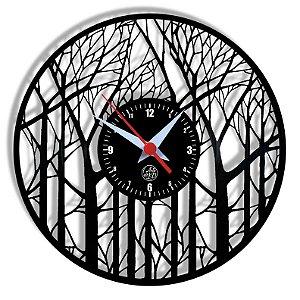 Relógio de Vinil - Árvores Natureza