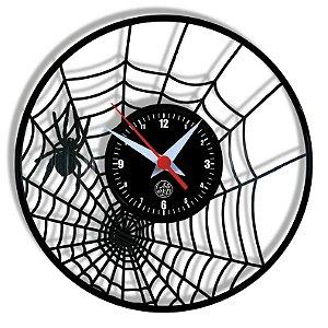 Relógio de Vinil - Aranha Natureza
