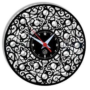 Relógio de Vinil - Mandala
