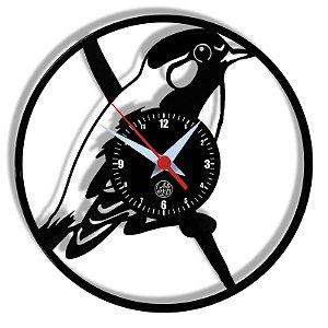 Relógio de Vinil - Passaro Natureza