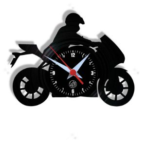 Relógio de Vinil - Moto Esporte Velocidade