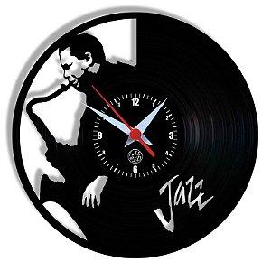 Relógio de Vinil - Jazz Musica Banda Instrumentos