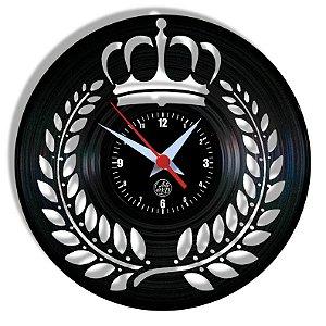 Relógio de Vinil - Coroa