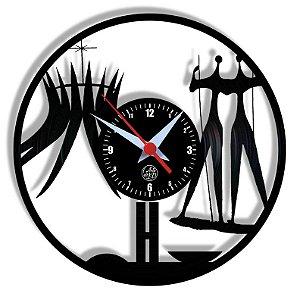 Relógio de Vinil - Brasília Turismo Viagem