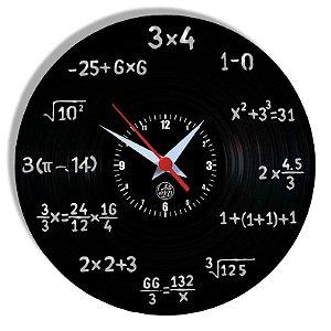 Relógio de Vinil - Matemática Professor Profissão