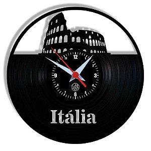 Relógio de Vinil - Itália Coliseu Viagem Turismo