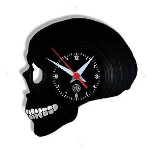Relógio de Vinil - Crânio