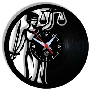 Relógio de Vinil - Justiça Profissão