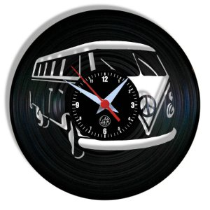 Relógio de Vinil - Kombi Carro Automóvel Clássico