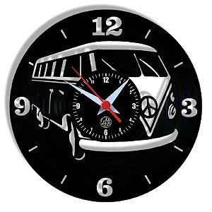 Relógio de Vinil - Kombi Carro Clássico