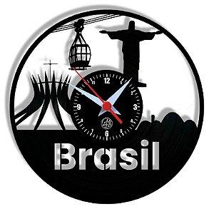Relógio de Vinil - Brasil Viagem Turismo