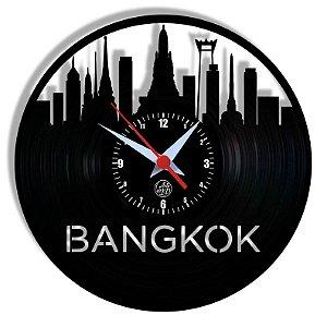 Relógio de Vinil - Bangkok Viagem Turismo