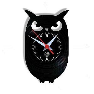 Relógio de Vinil - Coruja