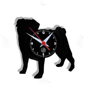 Relógio de Vinil - Pug