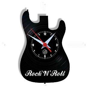 Relógio de Vinil - Guitarra Rock N Roll