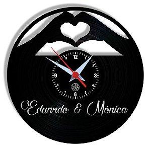 Relógio de Vinil - Casal Personalizado Nome