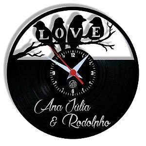 Relógio de Vinil - Casal Personalizado