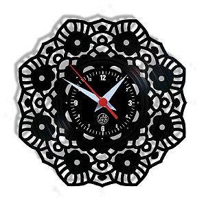 Relógio de Vinil - Mandala Modelo 1