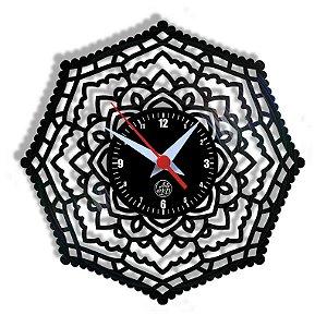 Relógio de Vinil - Mandala Modelo 2