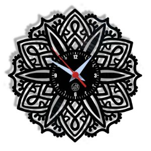 Relógio de Vinil - Mandala Modelo 3