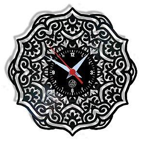 Relógio de Vinil - Mandala Modelo 4