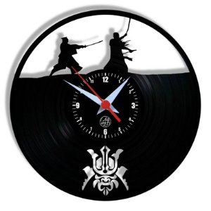 Relógio de Vinil - Samurai