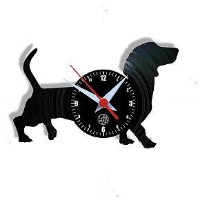 Relógio de Vinil - Cachorro Daschshund
