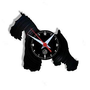 Relógio de Vinil - Cachorro Schnauzer Pet Petshop