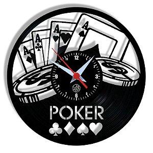 Relógio de Vinil - Poker Novo