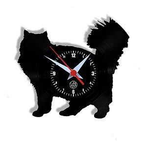 Relógio de Vinil - Gato