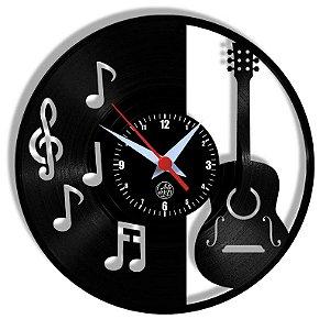Relógio de Vinil - Violao Notas