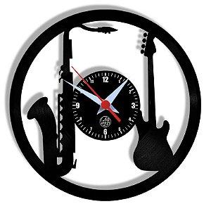 Relógio de Vinil - Sax Baixo Bass