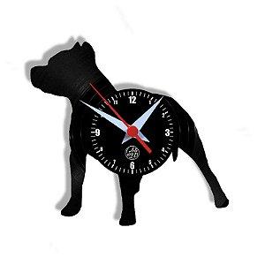 Relógio de Vinil - Cachorro Pitbull
