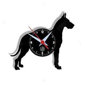 Relógio de Vinil - Cachorro Doberman