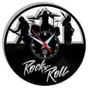 Relógio de Vinil - Banda Rock