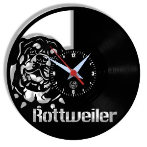 Relógio de Vinil - Rottweiller Cachorro Pet