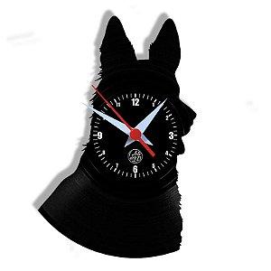 Relógio de Vinil - Pastor Alemão Cachorro