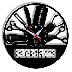Relógio de Vinil - Barbearia Modelo1