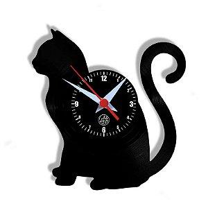 Relógio de Vinil - Gato De Lado