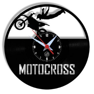 Relógio de Vinil - Motocross
