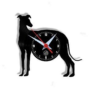 Relógio de Vinil - Cachorro Galgo