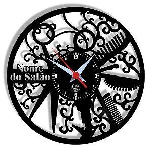 Relógio de Vinil - Salão De Beleza Personalizado