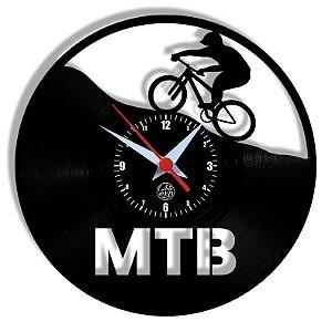 Relógio de Vinil - Mountain Bike