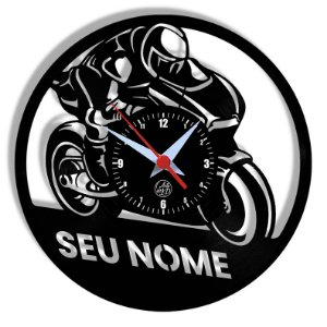 Relógio de Vinil - Moto Personalização