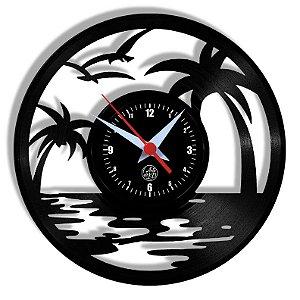 Relógio de Vinil - Praia