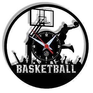 Relógio de Vinil - Basketball